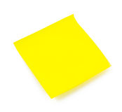 Yellow small sticky note Stock Photo