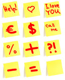 Yellow small sticky note Stock Image