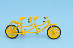 Yellow and small tandem toy Royalty Free Stock Photography