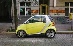 Yellow Smart city car Royalty Free Stock Photography