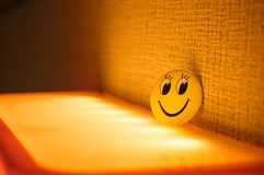 Yellow smile face Stock Images