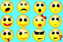Yellow Smiles Stock Images
