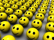 Yellow smiles Royalty Free Stock Image