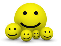 Yellow smiley balls Stock Photo