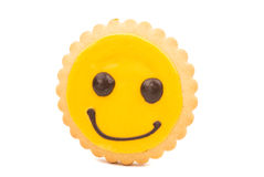 Yellow Smiley biscuit Royalty Free Stock Images