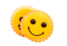 Yellow Smiley biscuit Royalty Free Stock Image