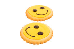 Yellow Smiley biscuit Stock Image