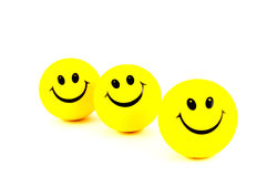 Yellow smiley face Royalty Free Stock Images