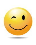 Yellow smiley face Stock Images