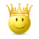 Yellow smiley face Royalty Free Stock Image