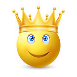 Yellow smiley face Royalty Free Stock Photos