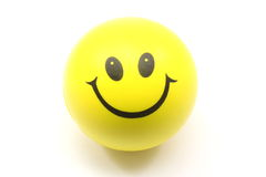 Yellow Smiley Face Stress Ball Royalty Free Stock Photo