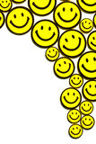 Yellow smileys Stock Photography