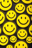 Yellow smileys Stock Images