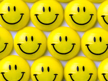 Yellow smileys Stock Photos