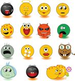 Yellow_smileys Stock Photos