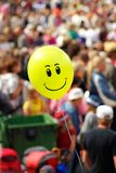 Yellow Smiling Air Balloon Stock Photos
