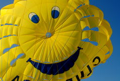 Yellow smiling balloon dome Royalty Free Stock Images