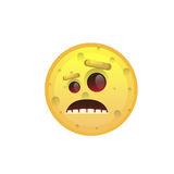 Yellow Smiling Face Disappointed Negative People Emotion Icon Royalty Free Stock Images
