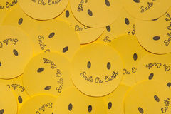 Yellow Smiling paper. Stock Photos