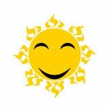 Yellow smiling sun vector - cartoon vector Stock Photo