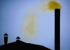 Yellow smoke Stock Photography