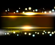 Yellow Smooth technology light lines  background. Royalty Free Stock Image