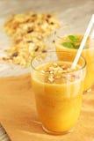 Yellow smoothie Royalty Free Stock Photo