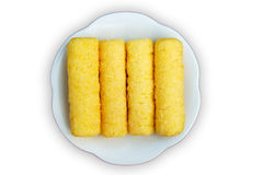 Yellow snack made by corn. Stock Photos