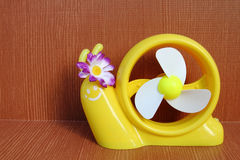 Yellow snail toy 3 Royalty Free Stock Photography