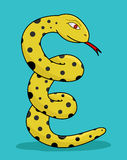Yellow snake Royalty Free Stock Images