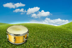 A yellow snare drum Royalty Free Stock Images