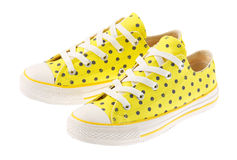 beautiful yellow sneaker isolated  Stock Images