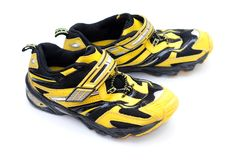 Yellow sneakers Royalty Free Stock Images