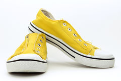 Yellow Sneakers Royalty Free Stock Photography