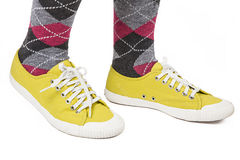 Yellow Sneakers Stock Photos