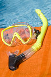 Yellow Snorkel by the Pool Stock Photography