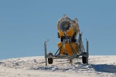 Yellow snow guns Royalty Free Stock Image