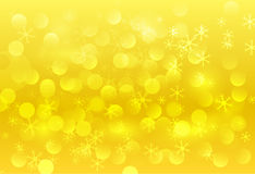 Yellow snowing background Stock Photo