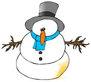 Yellow Snowman Stock Image