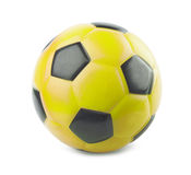 Yellow soccer ball Royalty Free Stock Photo