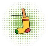 Yellow sock comics icon Royalty Free Stock Photography