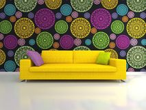 Yellow Sofa Royalty Free Stock Images