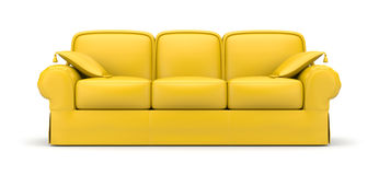 Yellow sofa Stock Photos