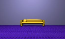 Yellow sofa Stock Photography