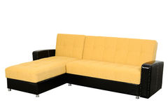 Yellow sofa Stock Images