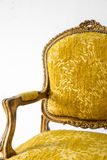 Yellow sofa Armchair Stock Image