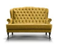 Yellow sofa. Isolated on white background Stock Photo