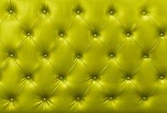 Yellow sofa leather background Stock Photo
