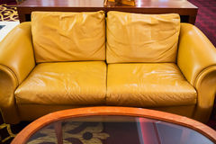 Yellow sofa Stock Photo